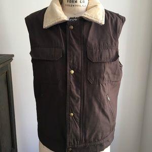 WOOLRICH Men's Brown Western Puffer vest